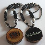 Customized Name Handcarved Necklace Double Sided Black & Silver