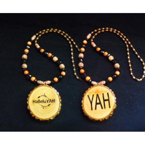 Handcrafted HalleluYAH Necklace Double Sided HalleluYAH YAH11