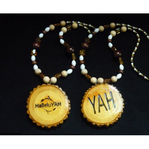 Handcrafted HalleluYAH Necklace Double Sided HalleluYAH YAH14