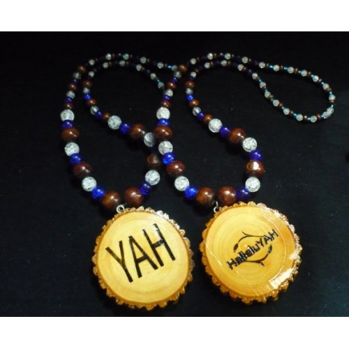 Handcrafted HalleluYAH Necklace Double Sided HalleluYAH YAH15