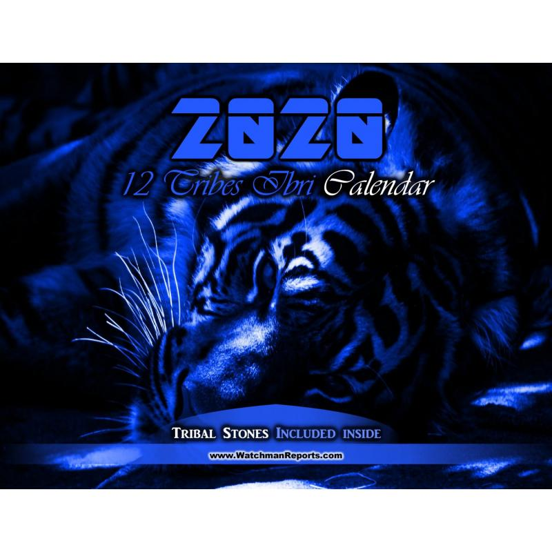 12 Tribes Ibri/Hebrew Calendar - Blue Tiger