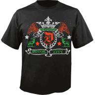 Detroit Motor City Black Vintage Tee