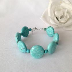 Magnesite in the Round Necklace and Bangle Bracelet Set