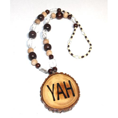 Handcrafted YAH Necklace Double Sided Mudium 26 inches