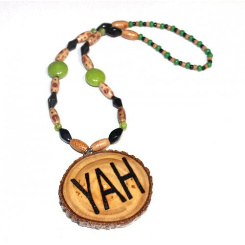 Handcrafted YAH Necklace Double Sided Short 20 inches