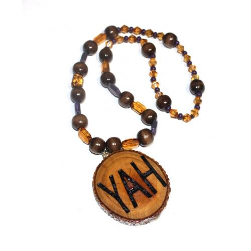 Handcrafted YAH Necklace Double Sided Short 22 inches