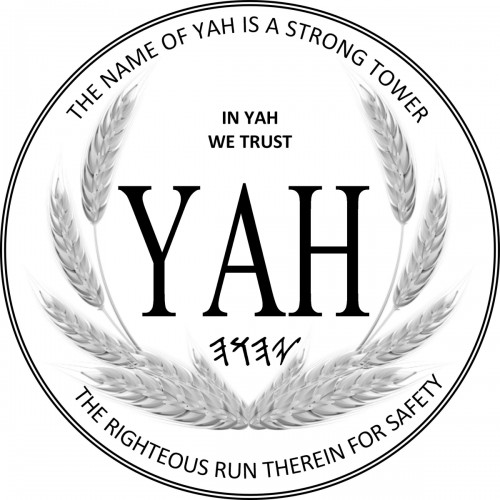Metal Medallion Necklace with the name YAH & Tetragrammaton