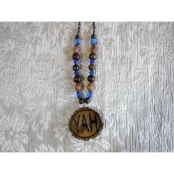 Handcrafted YAH Necklace Double Sided Medium 26 inches