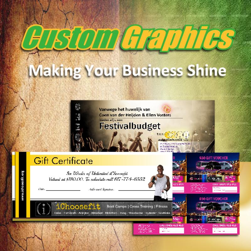 Custom Gift Certificate for your business