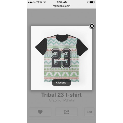Unisex Tribal 23 graphic T-shirt